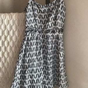 Aztec Black and White Dress